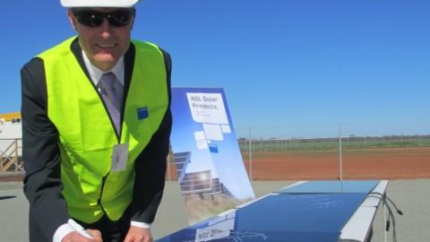 Milestone for Australia's largest solar plant