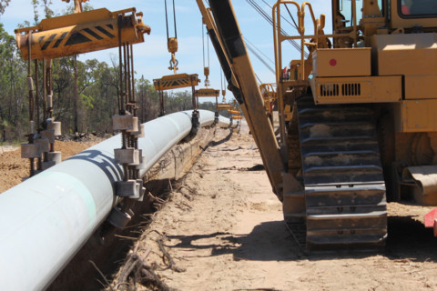 Building a gas pipeline