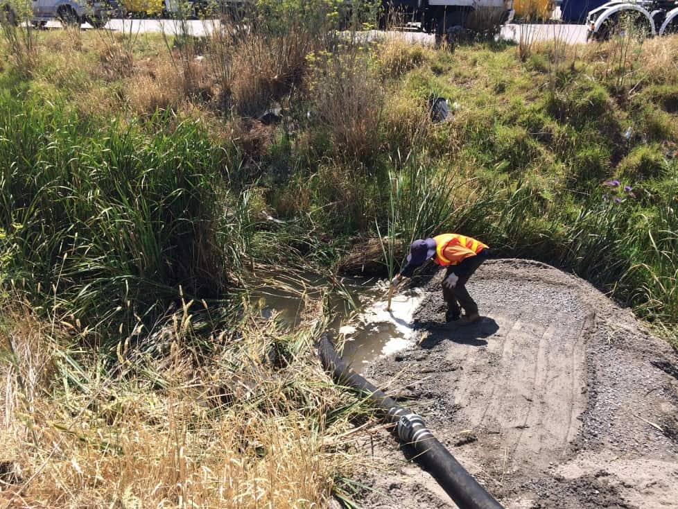 Polluted water contained following fire