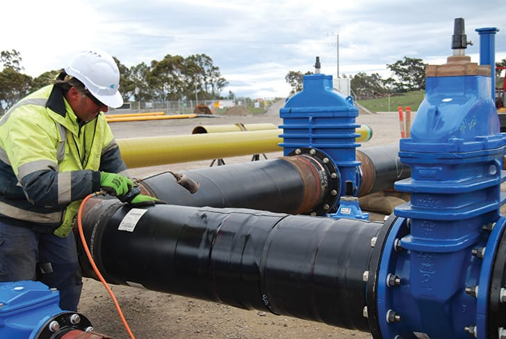 Precisely-timed on-site assembly ensureD SUCCESSFUL completion of THE combined water and gas project for Yarra Valley Water and APA Group.