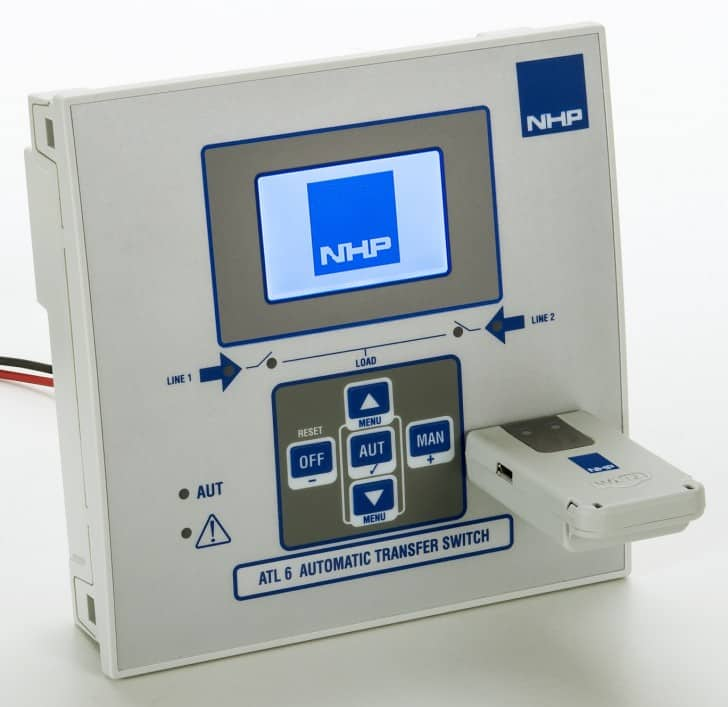 Automatic transfer switch controllers from NHP