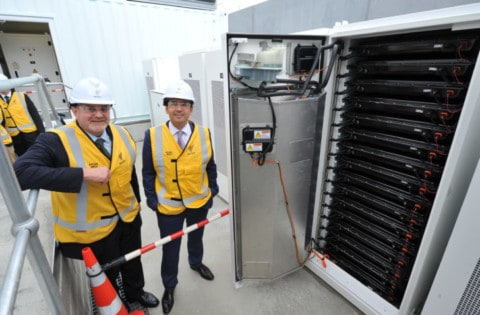 First grid-scale Tesla Powerpack unveiled