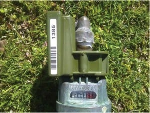 Water meter with an AMR.