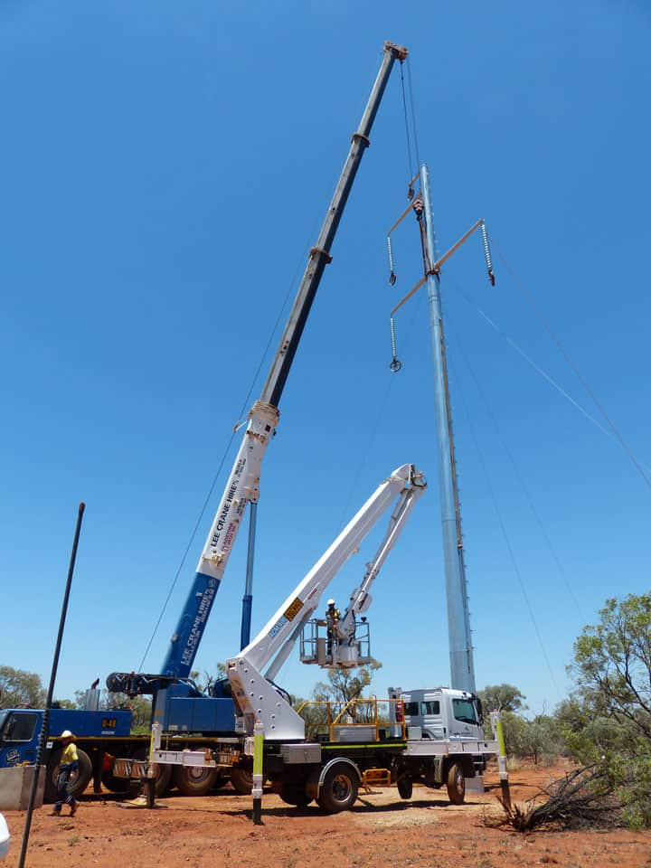 Zinfra delivers power infrastructure in tough outback conditions
