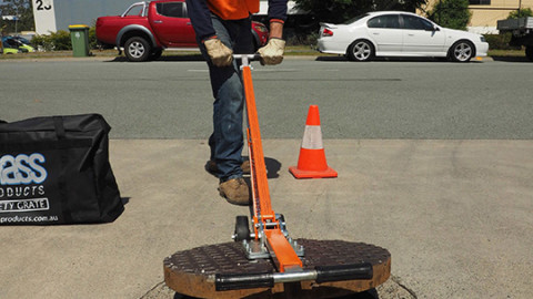 Eliminate the risks involved with manual handling of manhole covers
