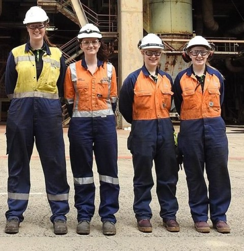 Yallourn power station hires new female apprentices