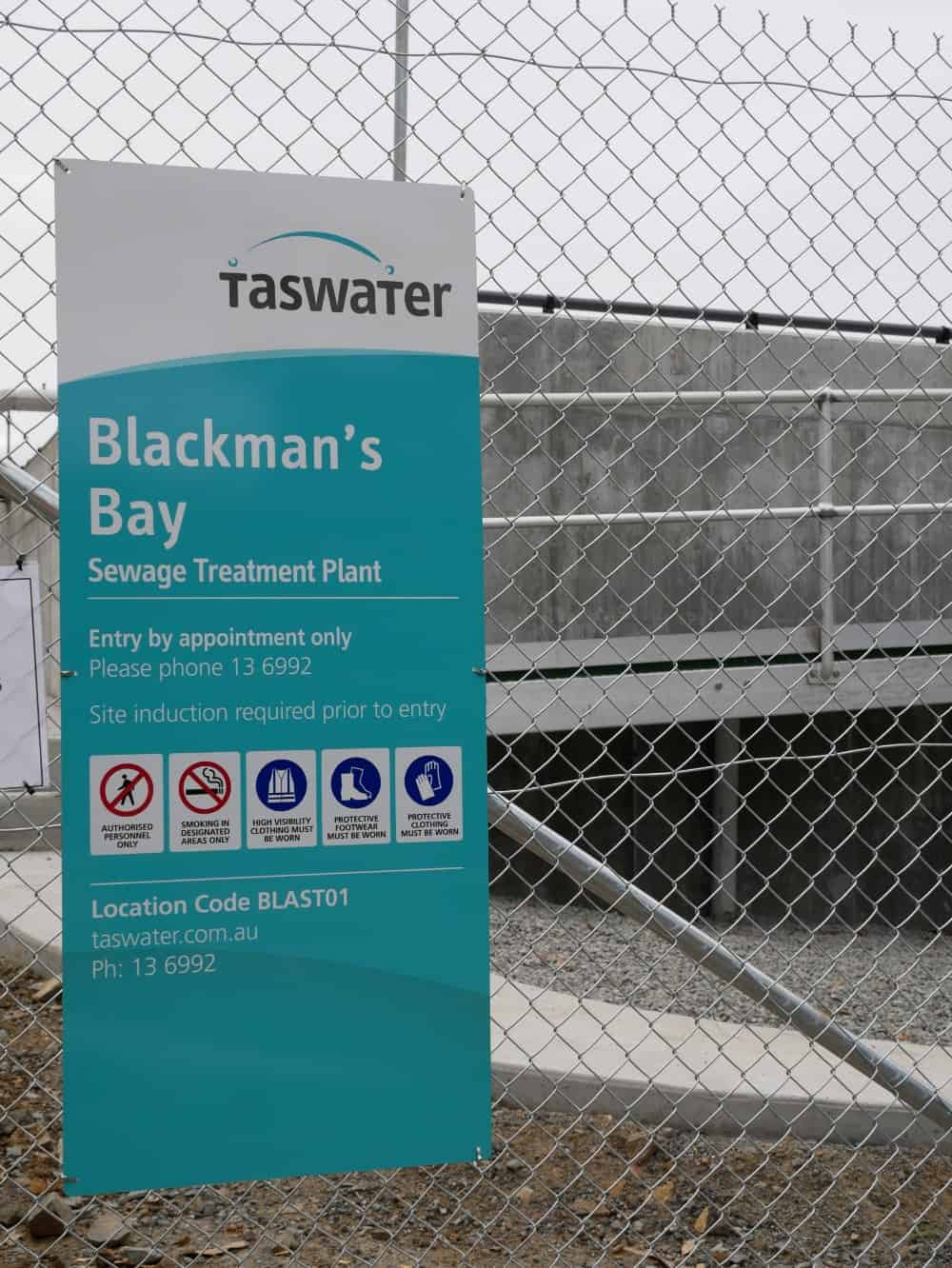 Upgrades underway at Blackmans Bay sewage treatment plant