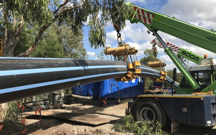 Queensland cross-river pipeline goes underground