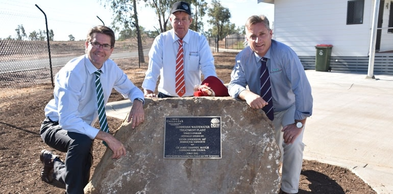 Gunnedah wastewater facility upgrade complete