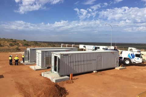 Battery storage boosts remote island power station