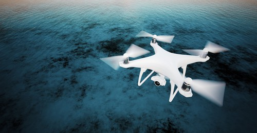 Monitoring water quality with drones