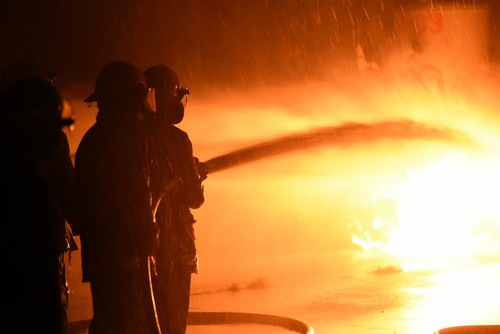 Pumps integral in factory fire clean-up