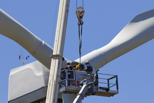 Wind farm underway at Coopers Gap