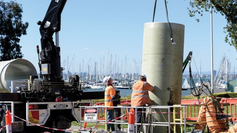 Slip lining success for Williamstown main sewer