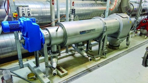 New larger sized HUBER Strainpress for large anaerobic digesters