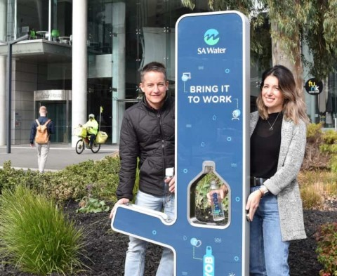 Smart water fountains keep Adelaide hydrated