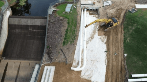 Ewen Maddock Dam works underway