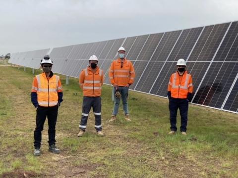 solar panels construction installation
